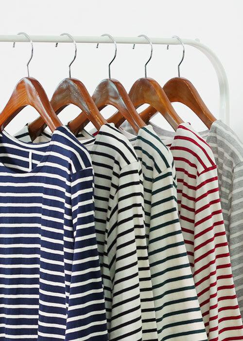 댕댕이 트임 단가라 티셔츠