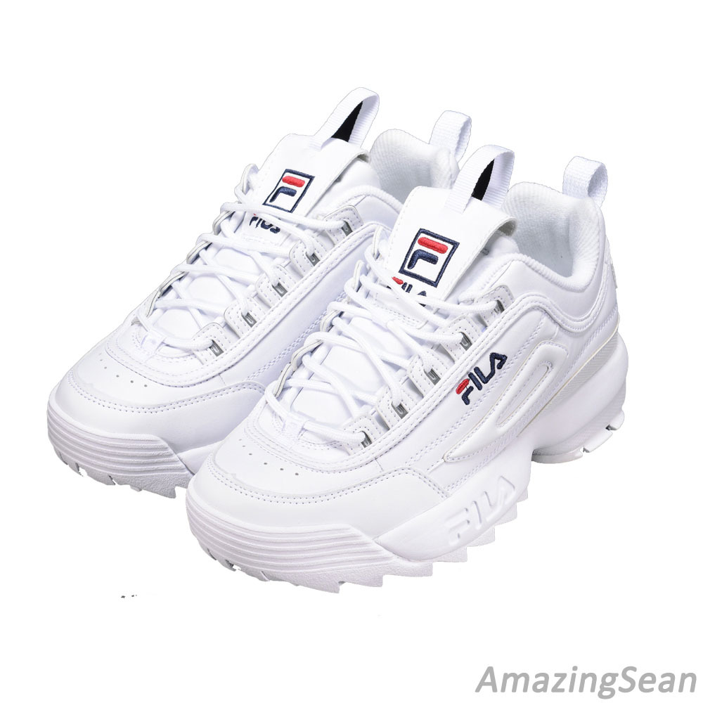 50% off selected material newest collection Details about FILA 2017 Disruptor II White White Shoes Authentic  FS1HTZ3071X_WWT Limited.