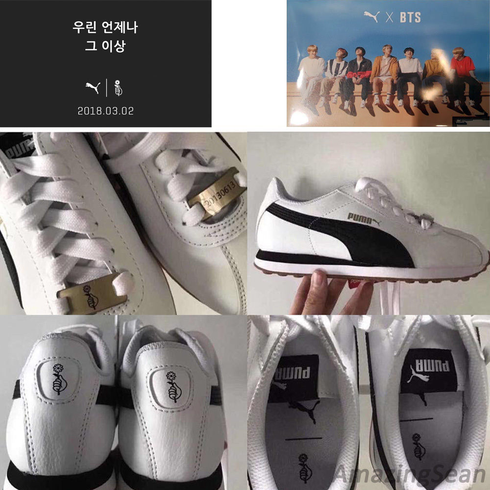 arcilla Grapa Incorrecto  Puma x BTS Turin Shoes + Photo Card, Bangtan Boys Kpop Collaboration Shoes  | eBay