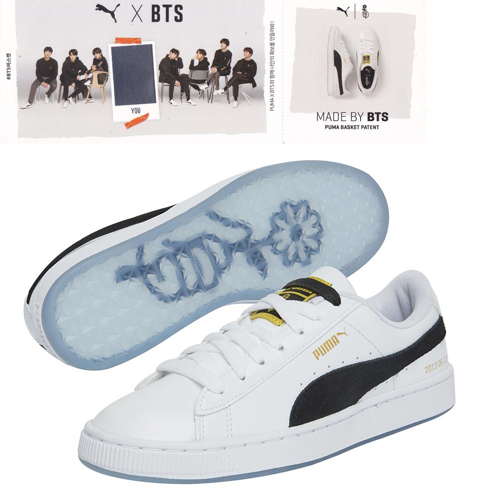 Details about BTS Official Goods - PUMA X BTS Shoes Basket Patent BTS  +Photo Card, BANGTANBOYS