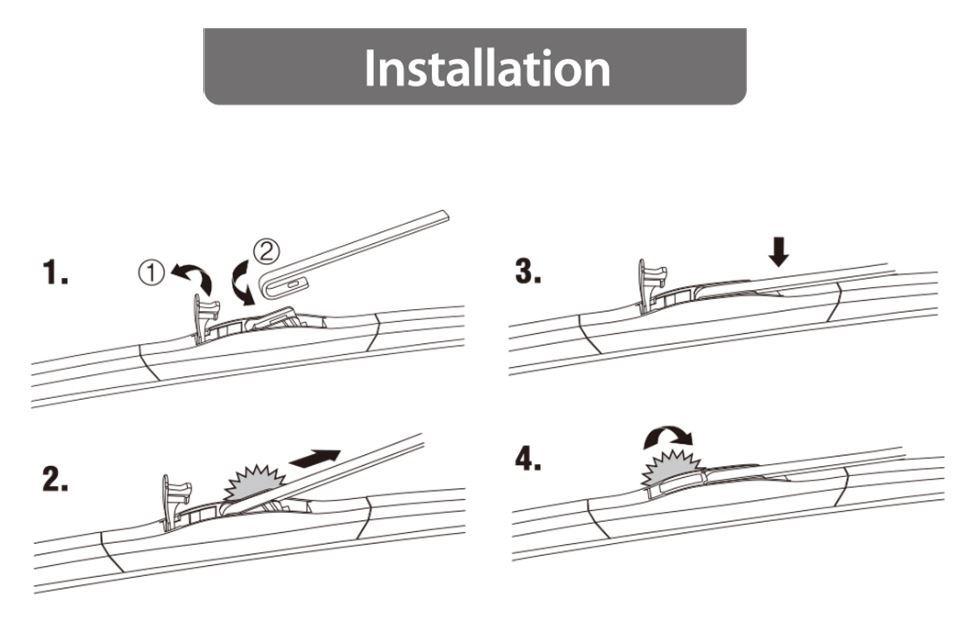 cap hybrid wiper blade installation