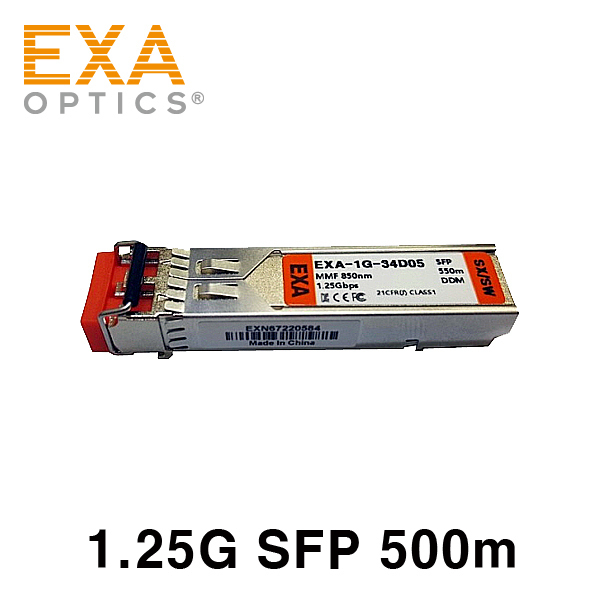 [EXA] Brocade 1G SFP E1MG-SX 550m Compatible Transceiver