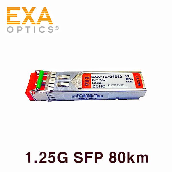 [EXA] MOXA 1000Base SFP-1GZXLC 80km 호환 광모듈