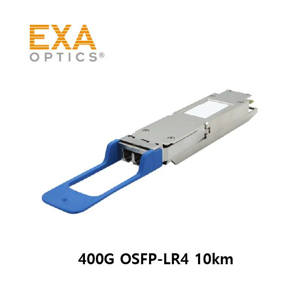 [EXA] 400G OSFP LR4 PAM4 2x LC 10km 광모듈 주문제작