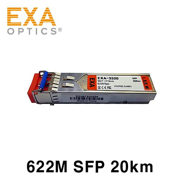 [EXA] 622M SFP-LX/LH 20km SMF 光トランシーバ