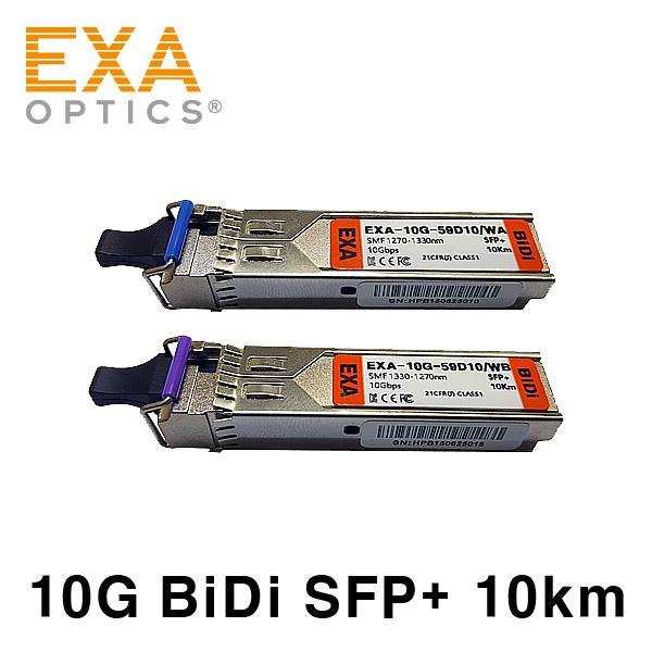 [EXA] 10G BiDi SFP+ Pair 10km SMF Optical Transceiver