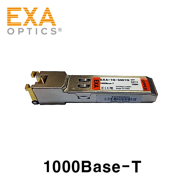 [EXA] 1000Base-T Copper SFP RJ45 광모듈