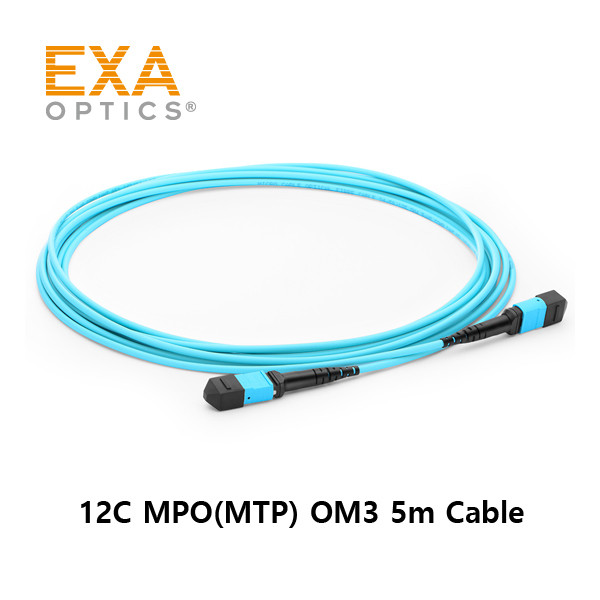 [EXA] 12C MPO(MTP) OM3 5M Optical PatchCord