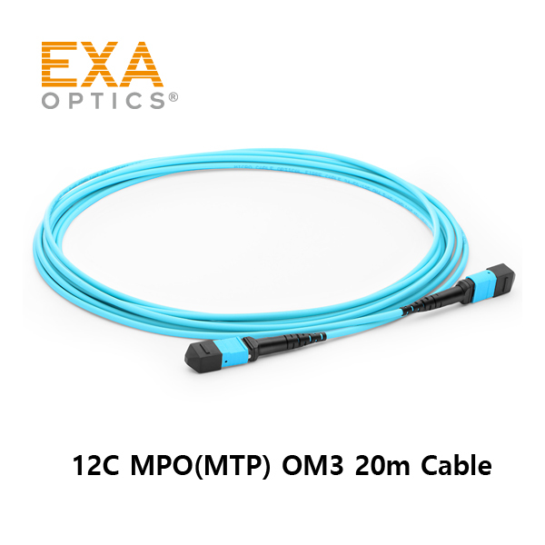 [EXA] 12C MPO(MTP) OM3 20M Optical PatchCord