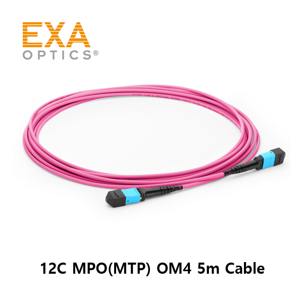 [EXA] 12C MPO(MTP) OM4 5M Optical PatchCord