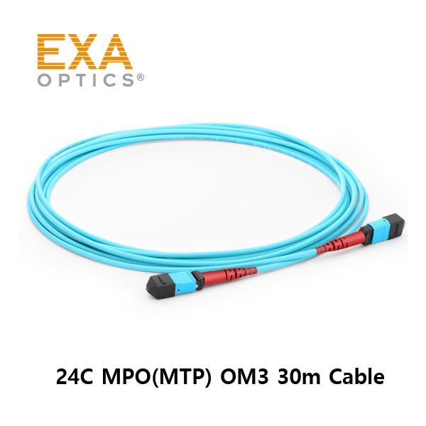 [EXA] 24C MPO(MTP) OM3 30M 光ファイバ ケーブル