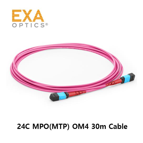 [EXA] 24C MPO(MTP) OM4 30M 光ファイバ ケーブル