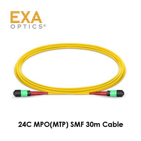 [EXA] 24C MPO-MPO SMF 30M 光ファイバ ケーブル
