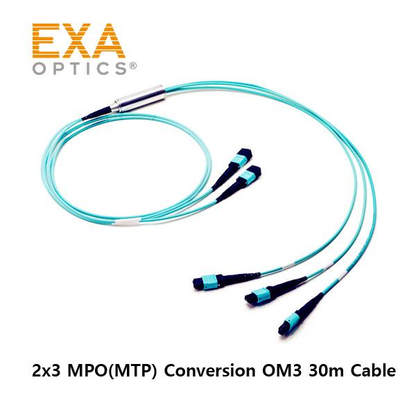 [EXA] 2*12C MPO-3*8C PO OM3 30M 光ファイバ ケーブル