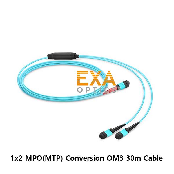 [EXA] 24C MPO-2*12C MPO OM3 30M 光ファイバ ケーブル