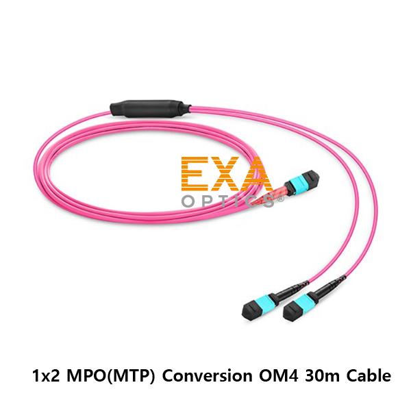 [EXA] 24C MPO-2*12C MPO OM4 30M 光ファイバ ケーブル