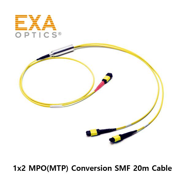 [EXA] 24C MPO-2*12 MPO SMF 20M 光ファイバ ケーブル