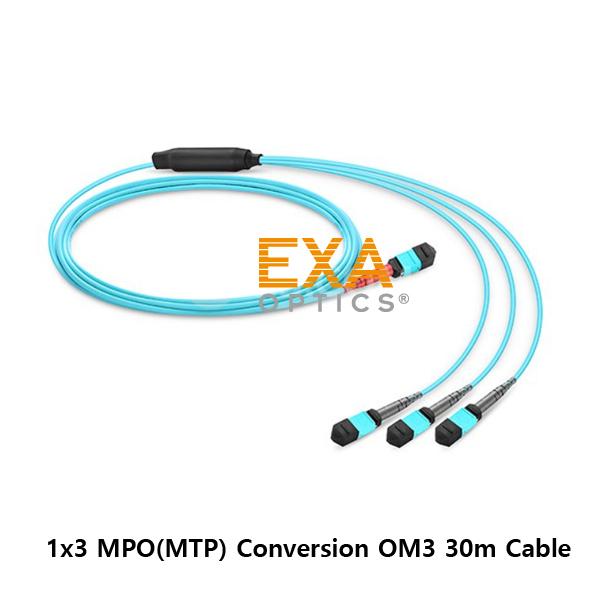 [EXA] 24C MPO-3*12C MPO OM3 30M 光ファイバ ケーブル