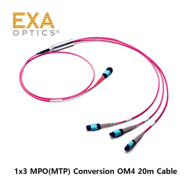 [EXA] 24C MPO-3*12C MPO OM4 20M 光ファイバ ケーブル