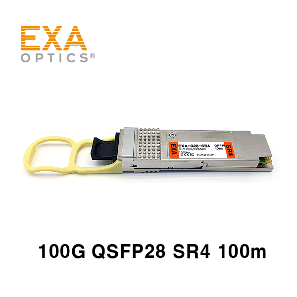 [EXA] 100G QSFP28 SR4 100m MMF 光トランシーバ