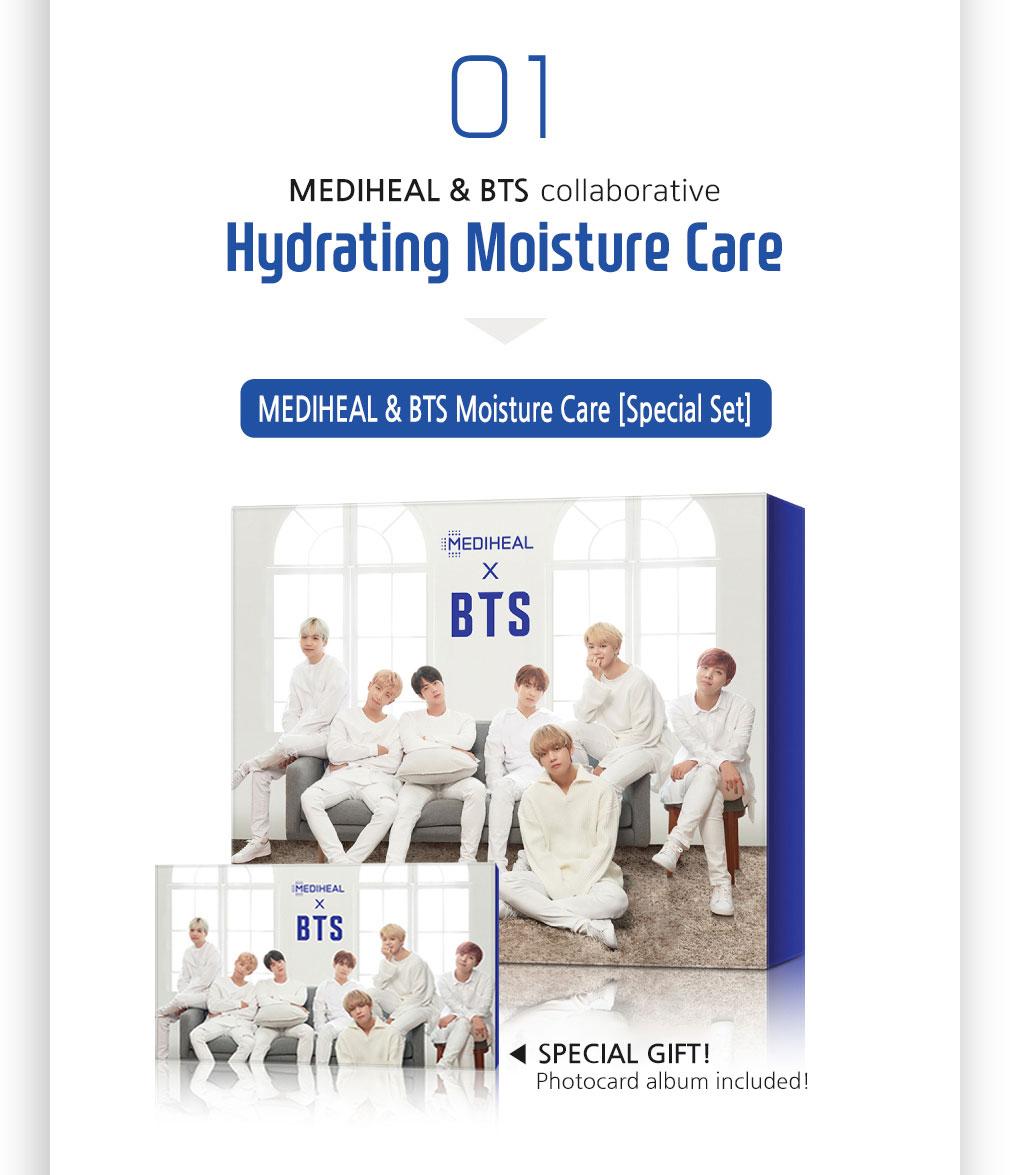 [ Mediheal ] mediheal BTS Hydrating Moisture Care Mask Sheet 10ea(Gift_BTS Photocard 14ea)