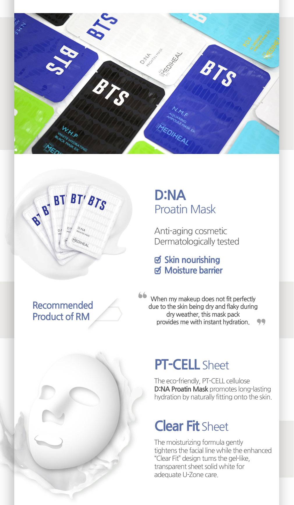 [ Mediheal ] ★SALE★ MEDIHEAL X BTS Facial Mask Sheet 10ea(GIFT, BTS Photocard 14ea)