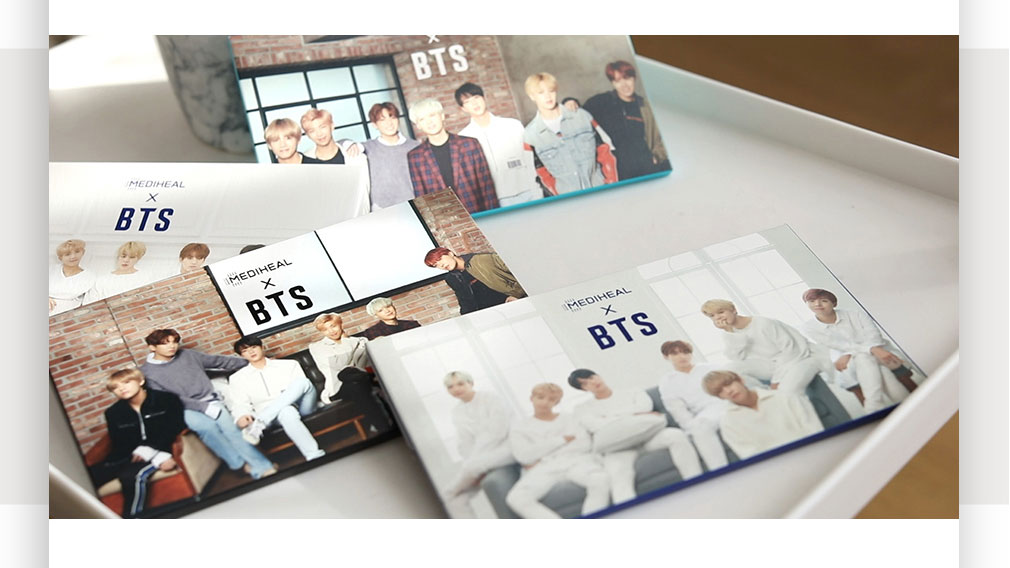 [ Mediheal ] mediheal BTS Moisture Barrier Care Mask Sheet 10ea(Gift_BTS Photocard 14ea)