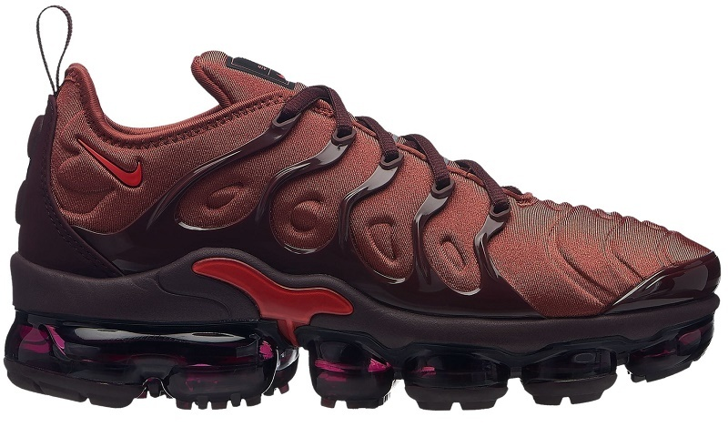 498c1c8a9c828 Details about NIKE AIR VAPORMAX PLUS - WOMEN S Burnt Orange Habanero Red Burgundy  Cru SE02-256