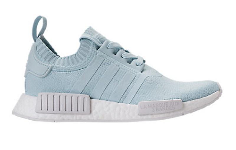 Women S Adidas Nmd R1 Stlt Primeknit Casual Shoes Light Aqua White