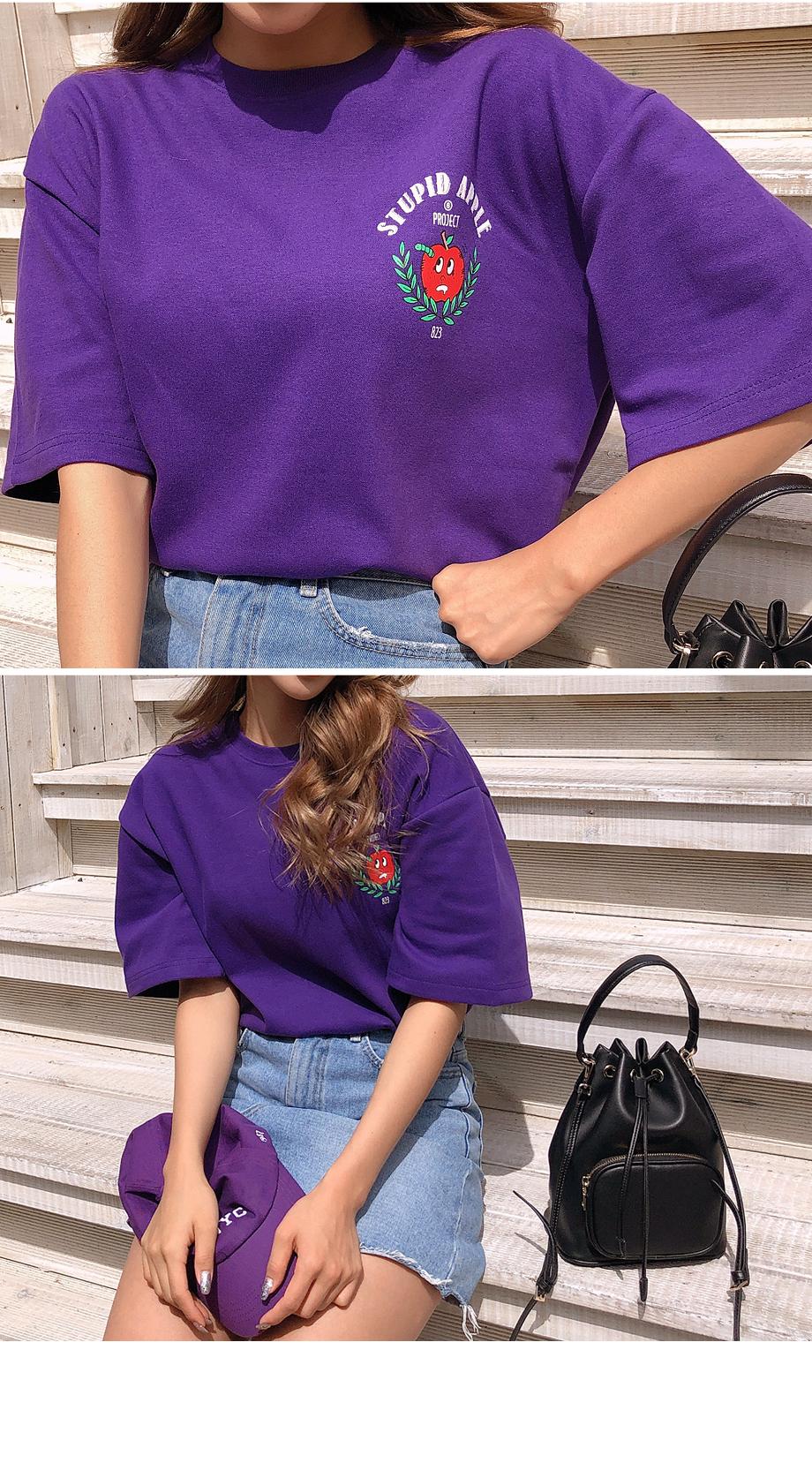 애플러브 프린팅 티셔츠