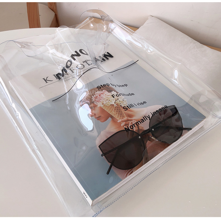 리리앤코 비글링 PVC 투명 에코백