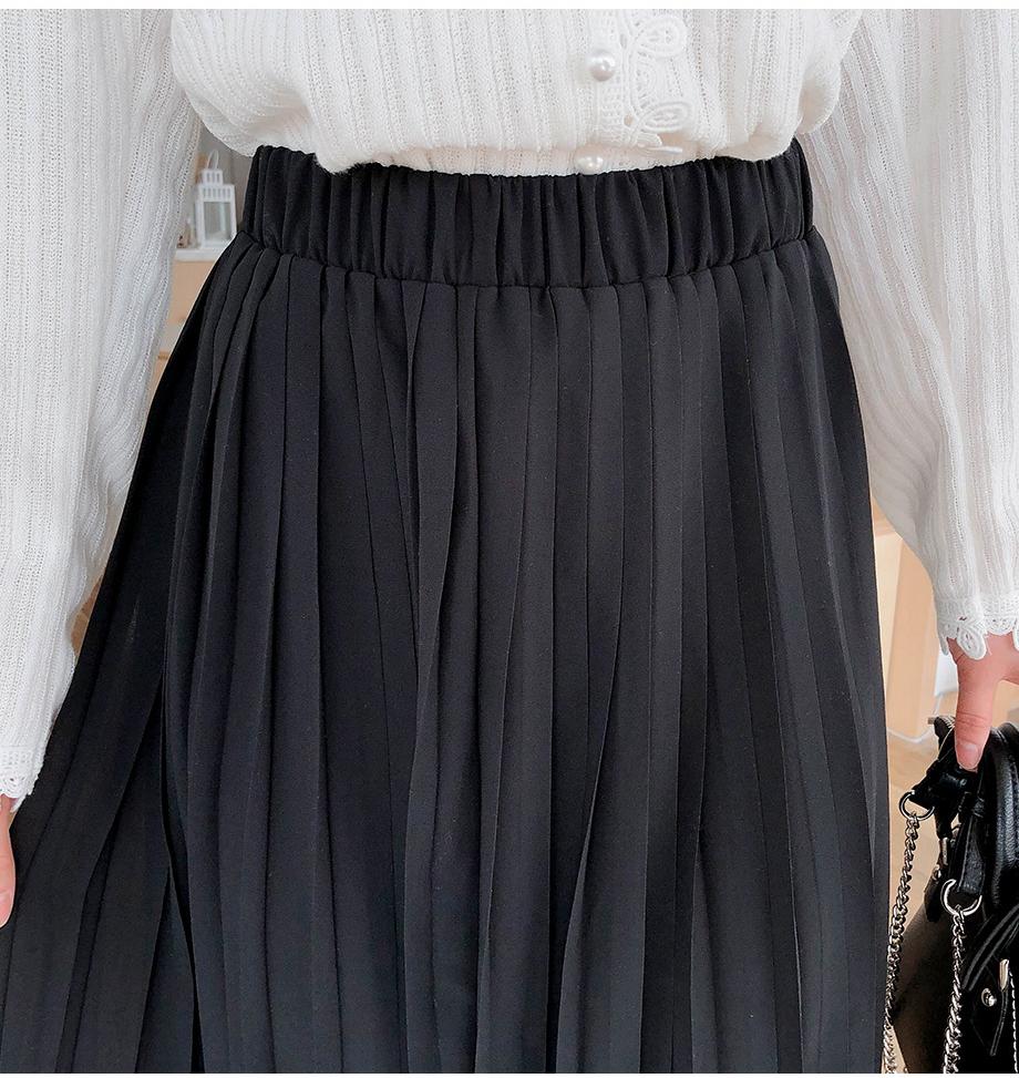 リリエンコ,マキシ丈プリーツスカート