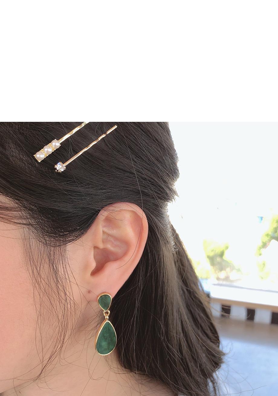 리리앤코 컬러레인 물방울 귀걸이