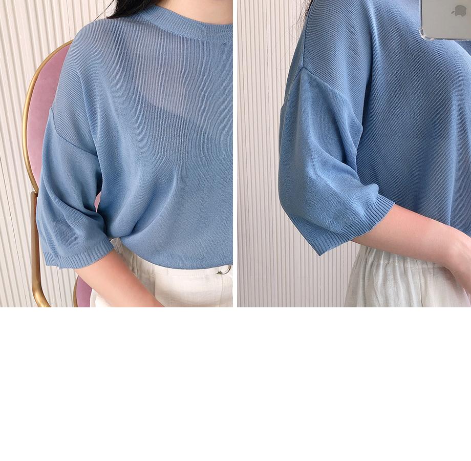 리리앤코 컴포트 니트 티셔츠