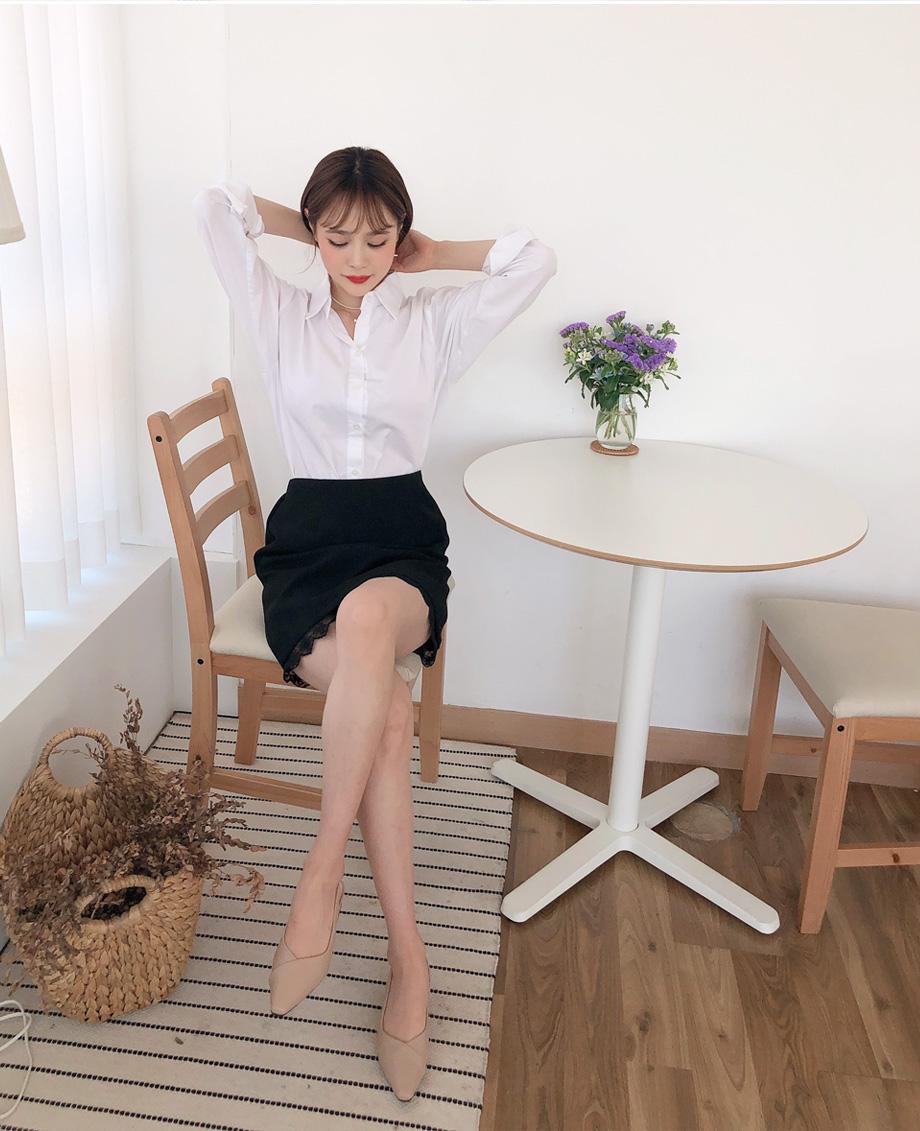 리리앤코 큐버 스텔레토 슬링백 구두