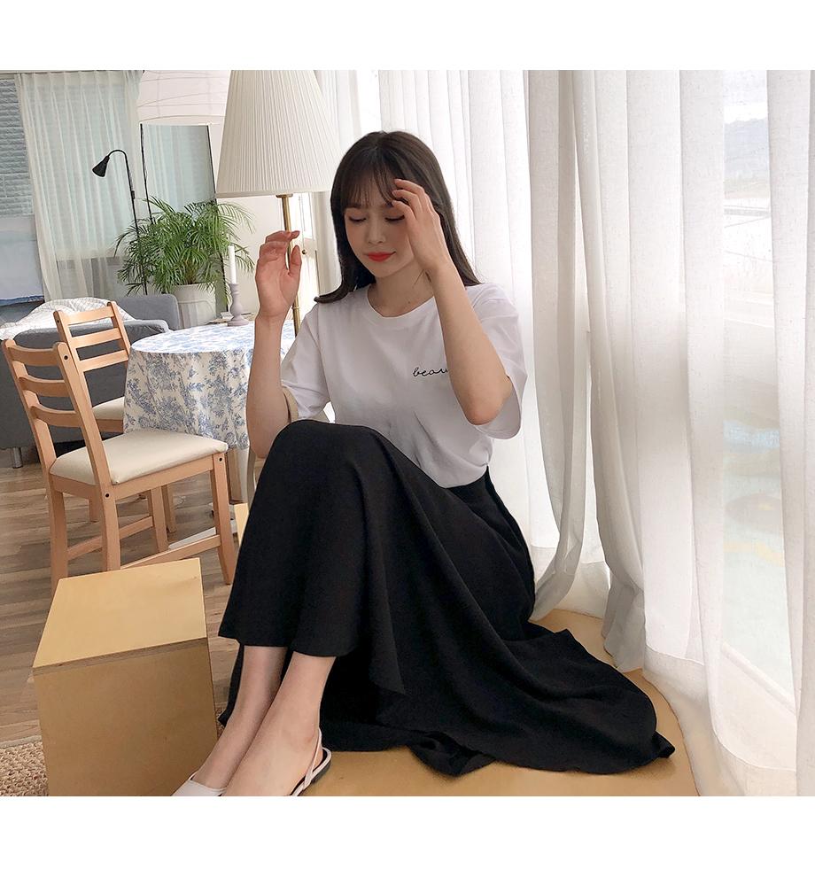 데이롱 플레어 밴딩 스커트