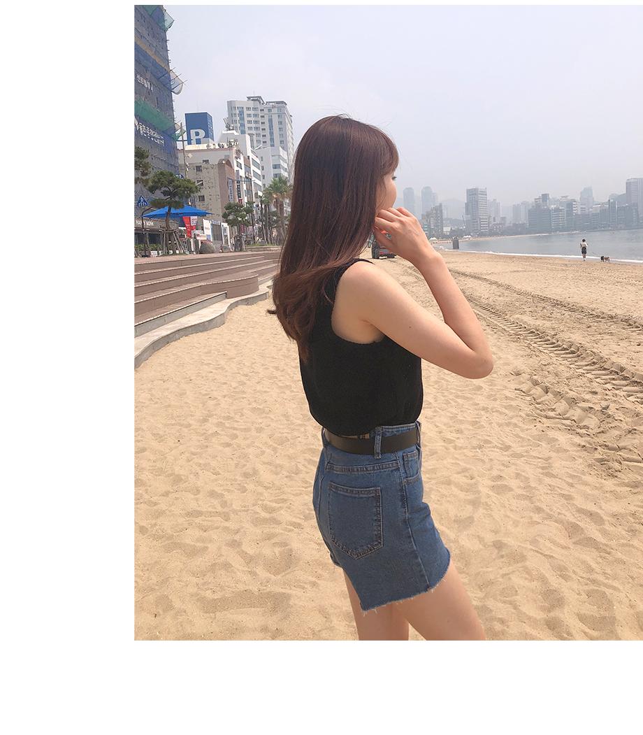 리리앤코 하티 데님 숏 팬츠
