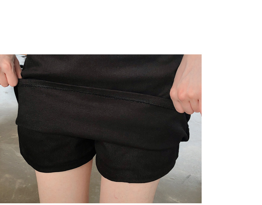 홀딩스 뒷밴딩 벨트 치마바지 스커트
