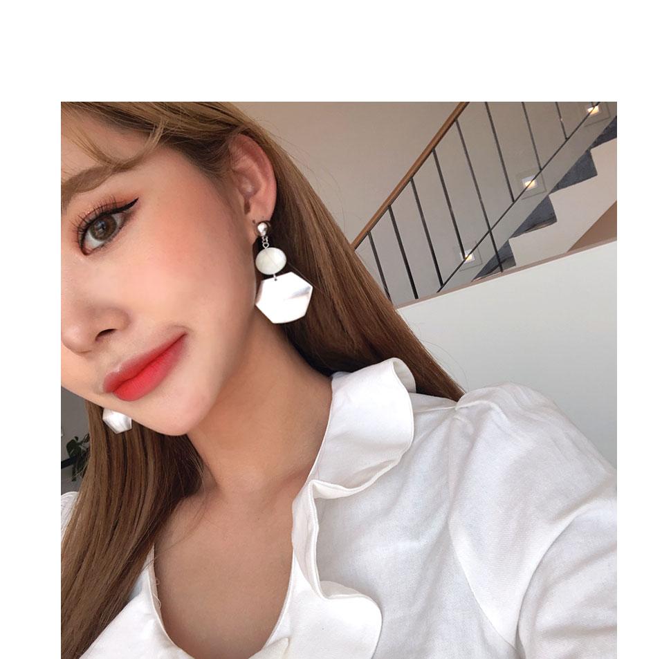키리비 육각형 롱 귀걸이