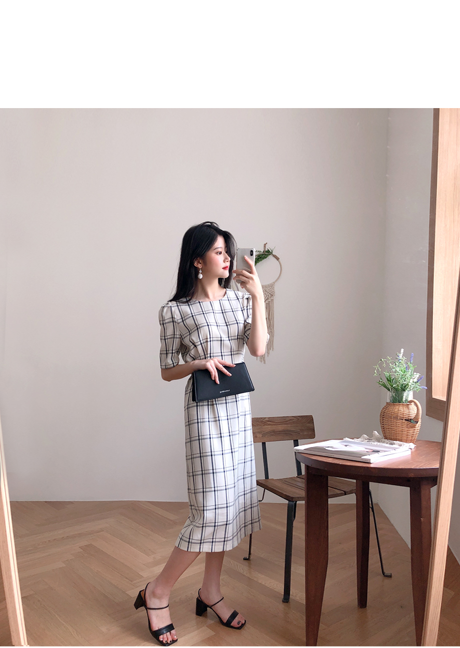 리리앤코 마카다미아 체크 원피스