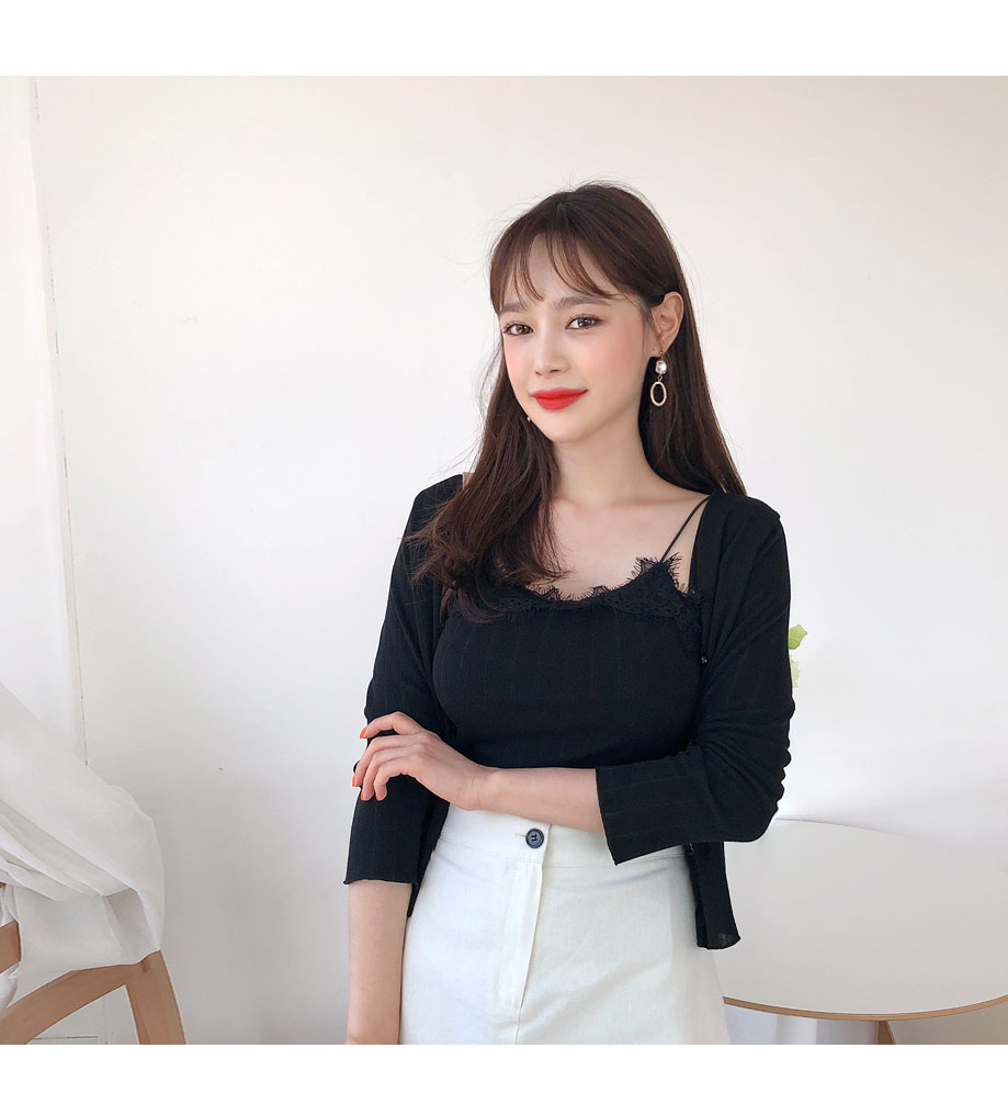 리리앤코 마지팬 나시 가디건 세트