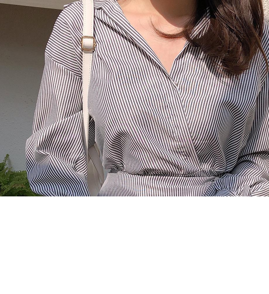 리리앤코 밀푀유 스트라이프 랩원피스