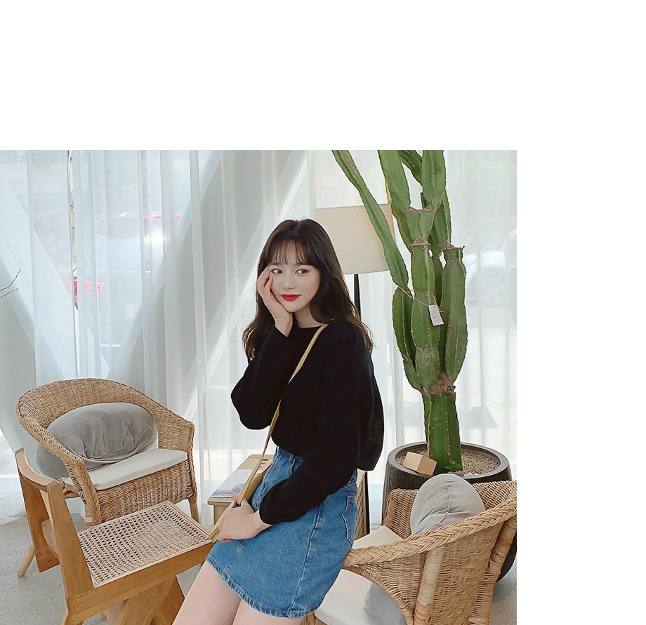 리리앤코 미니듀 데님 치마 바지