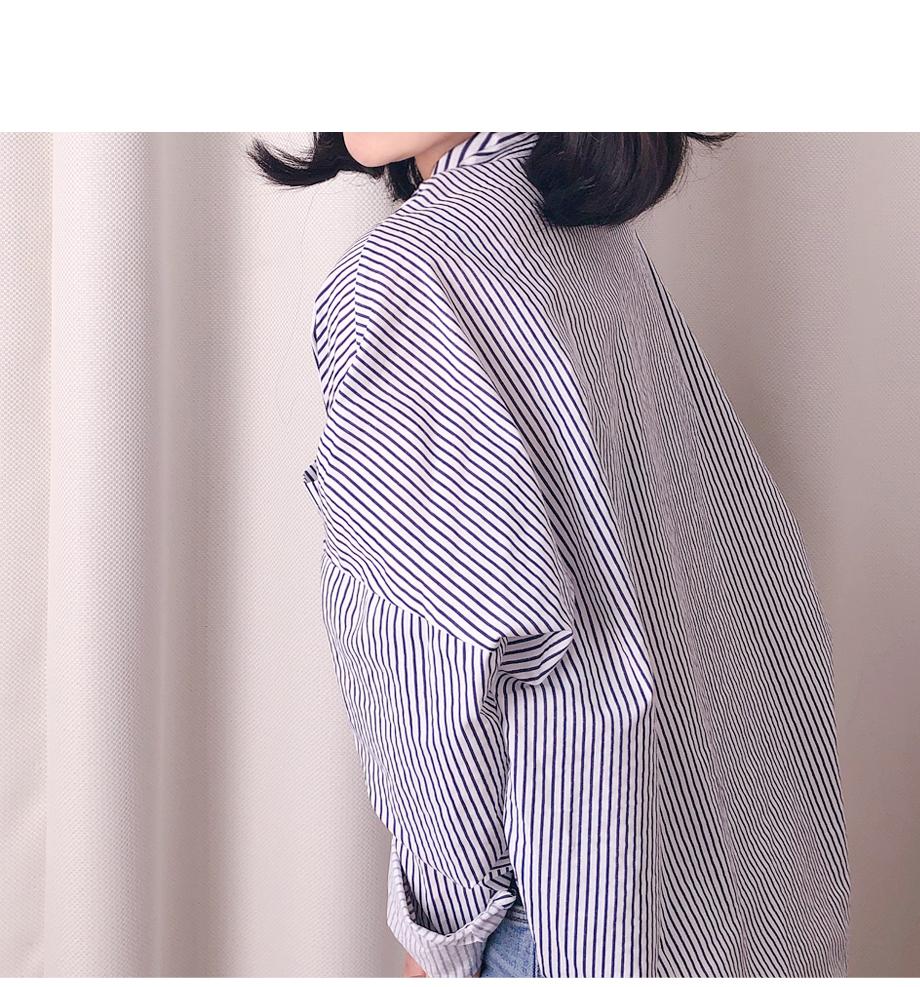 리리앤코 페이딘 스트라이프 셔츠