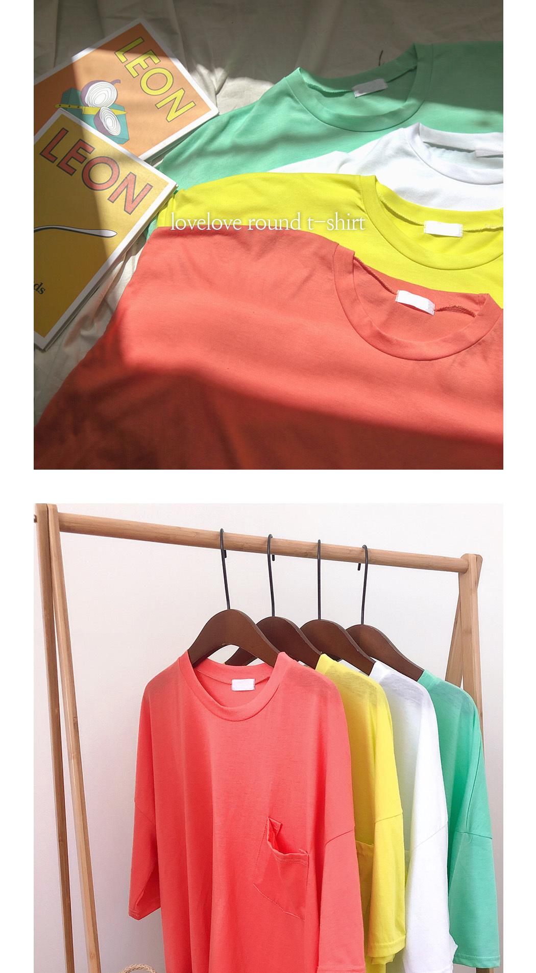 리리앤코 럽럽 라운드 티셔츠