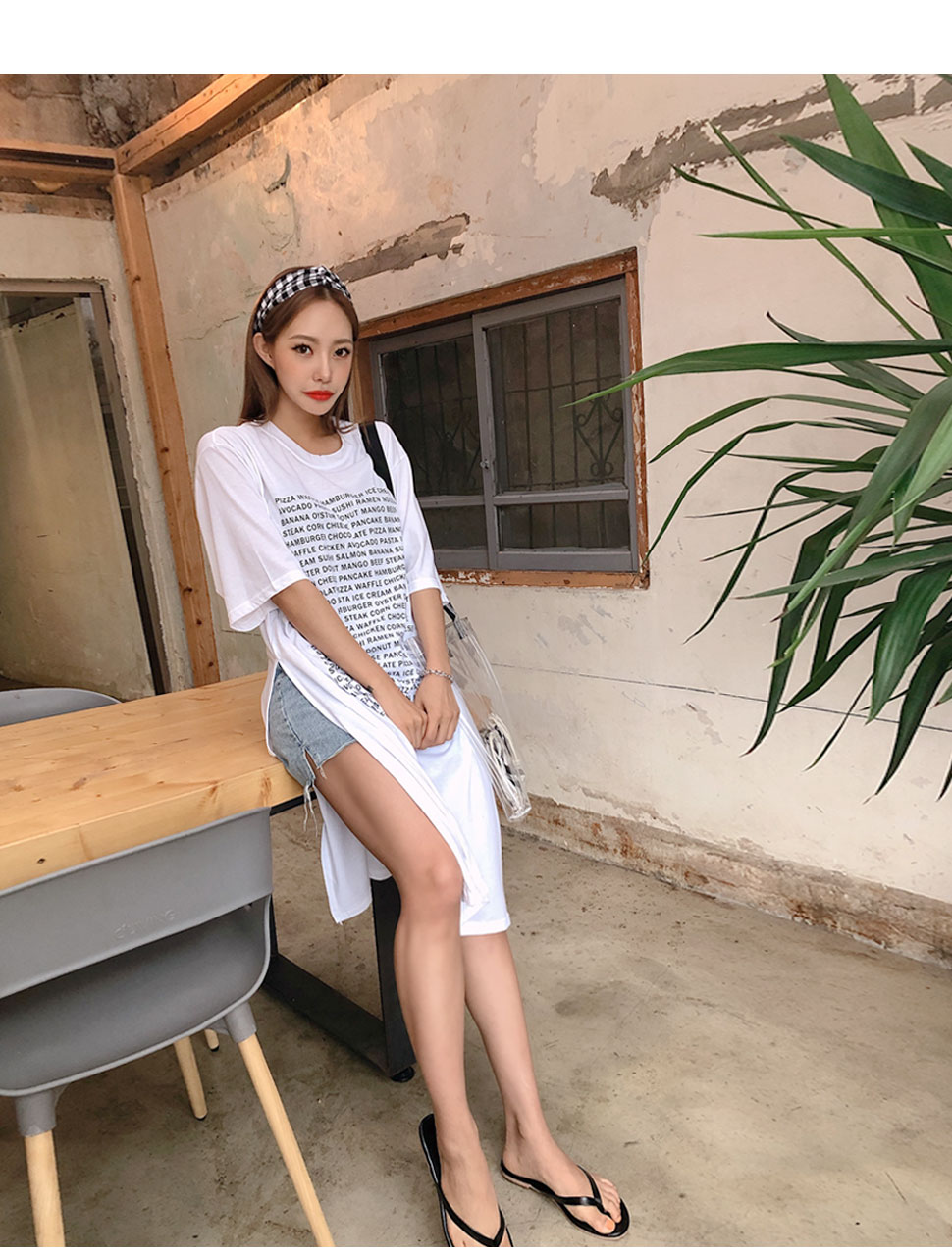 리리앤코 상쿠미 고방체크 헤어밴드
