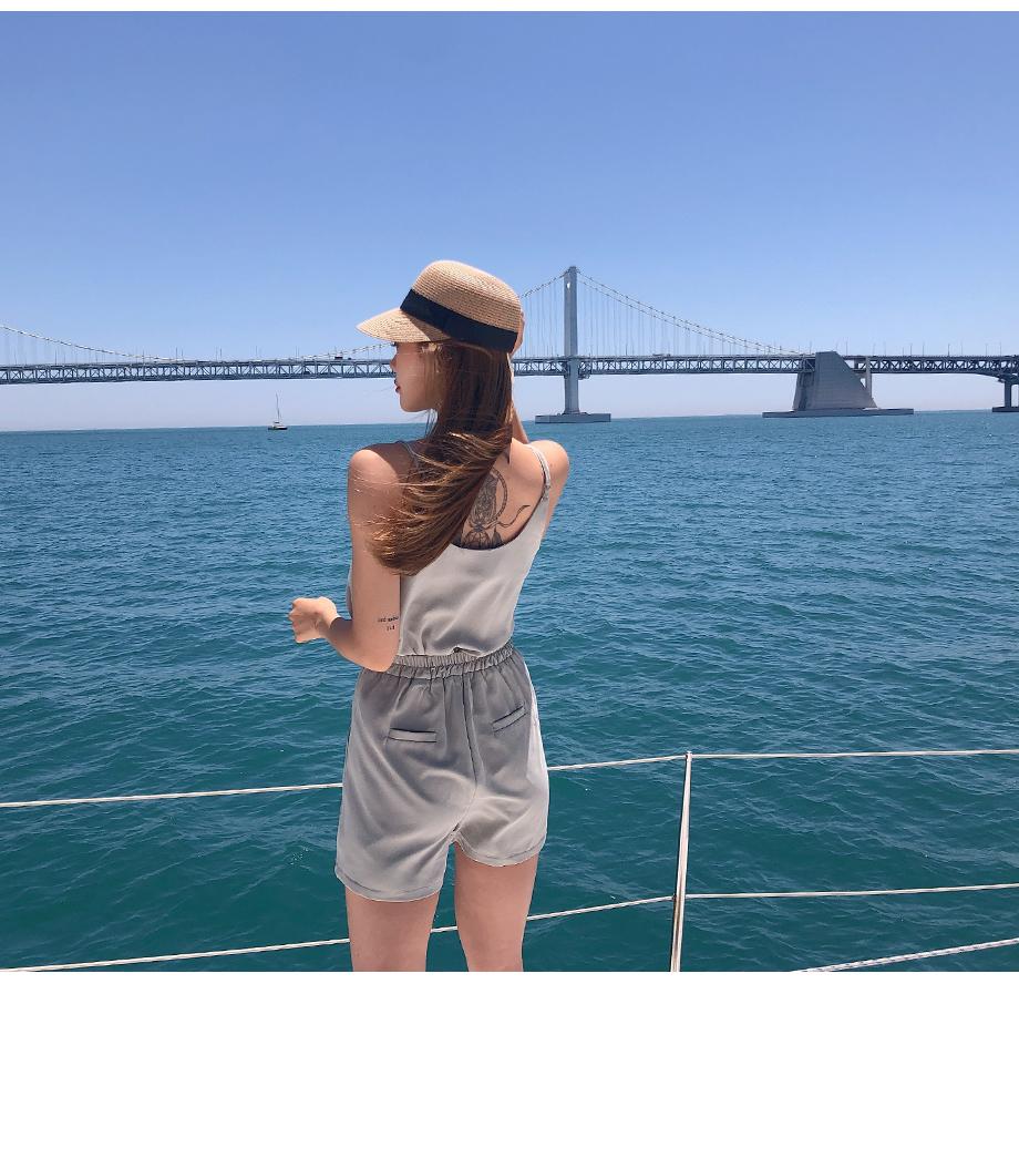 리리앤코 셔미 라탄 챙 모자