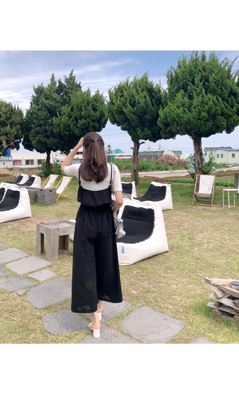 리리앤코 슈핀 뷔스티에 밴딩 점프수트