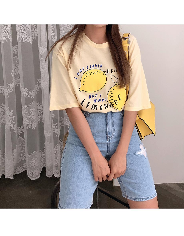 리리앤코 틴토 프린팅 티셔츠