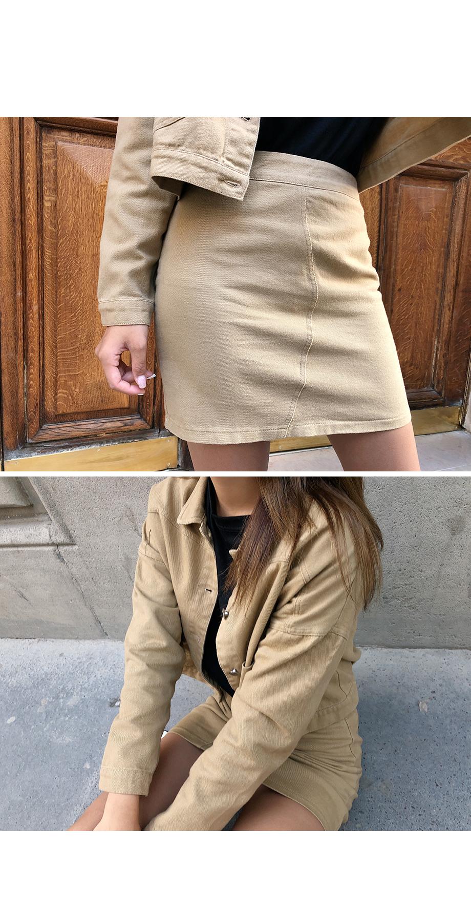 ベーシックコットンジャケット&スカート